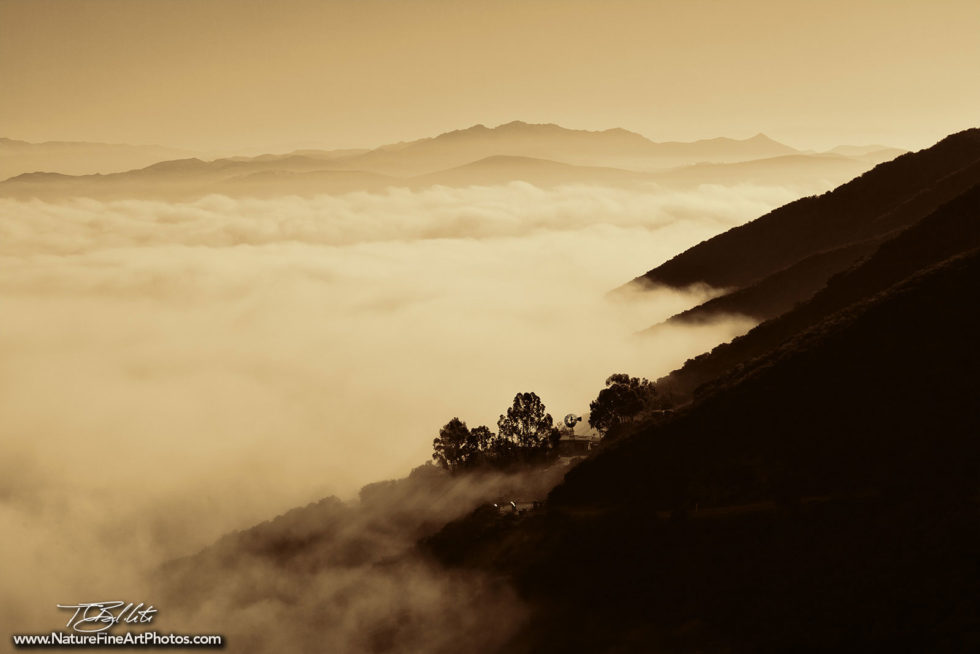 Fine Art Photo of Mountains and Fog