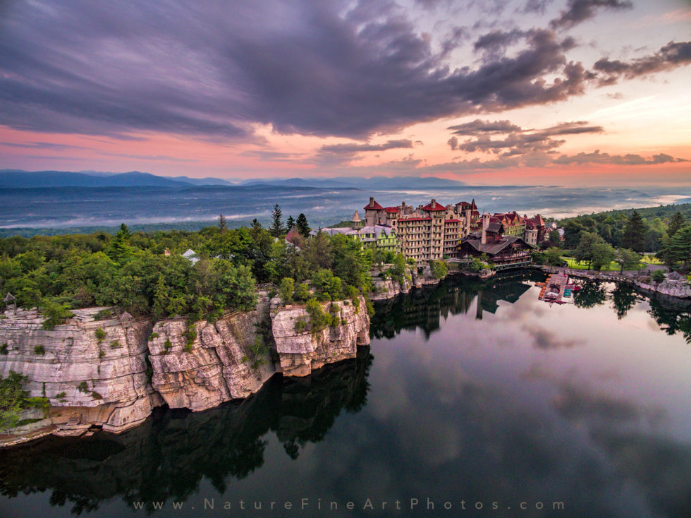photograph of mohonk mountain house a hotel on the lake in the mountains