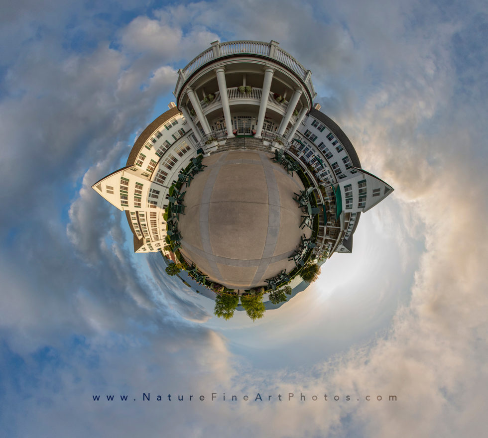Sagamore Hotel tiny planet in New York 360 photograph