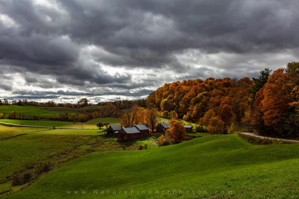 photo of Vermont Farm in fall foliage